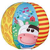 """Мягкая игрушка """"Музыкальный мячик, с коровкой"""", Chicco"""