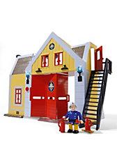 Feuerwehrmann Sam Feuerwehr-Station mit Figur