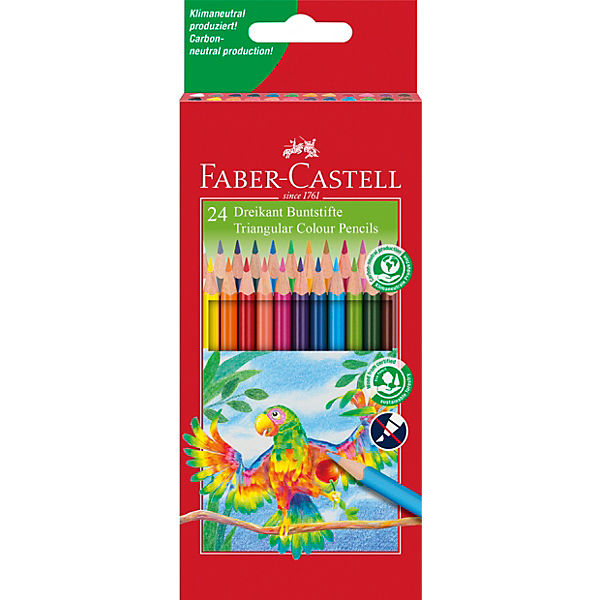 TRIANGULAR Buntstifte, 24 Farben