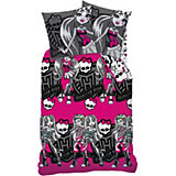 Kinderbettwäsche Monster High, Trio Pink, Biber, 135 x 200 cm