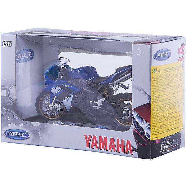 Модель мотоцикла 1:18 Yamaha YZF-R1 , Welly