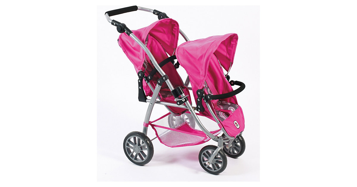 Zwillings-Puppenbuggy Vario, Hot Pink Pearls