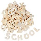 Holzbuchstaben zum Gestalten, 300 Stück