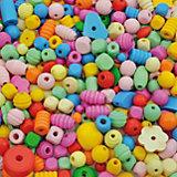 Holzperlen-Mix pastell, 250 g