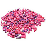 Holzperlen-Mix rosa & lila, 250 g