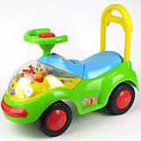 Машина Bugati для катания детей, c ручкой, светом и звуком, Винни Пух