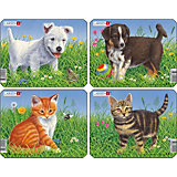 "Пазл ""Кошки и собаки"", 6 деталей, Larsen"