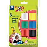 FIMO kids Materialpackung basic, 6 Farben