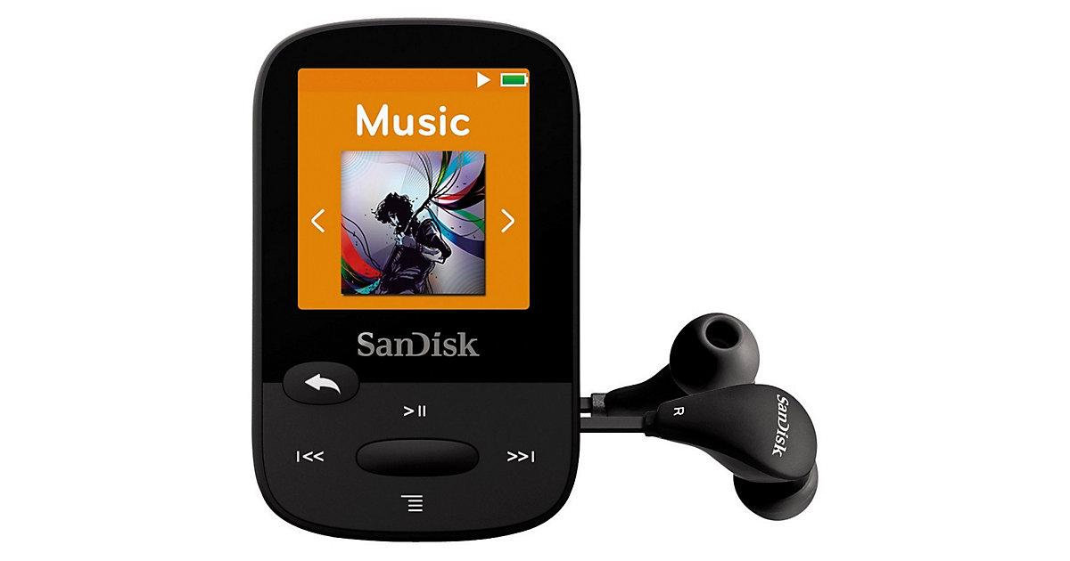 SanDisk MP3 Player 4GB Sansa Clip Sports schwarz
