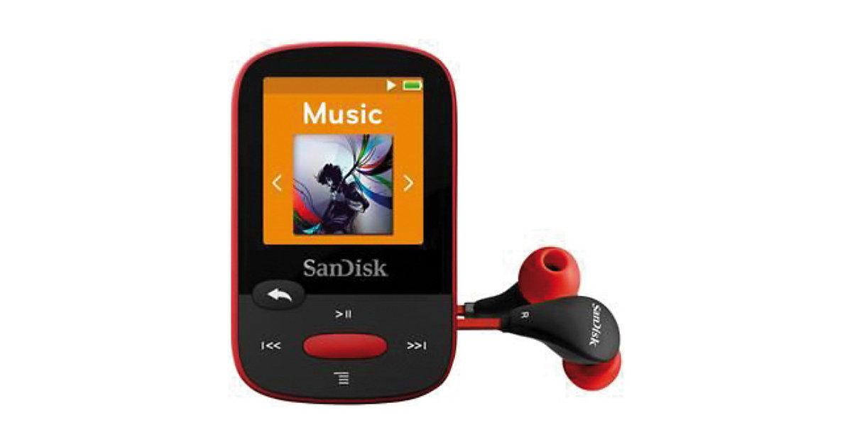 SanDisk MP3 Player 4GB Sansa Clip Sports Rot