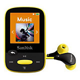 SanDisk MP3 Player 4GB Sansa Clip Sports Gelb