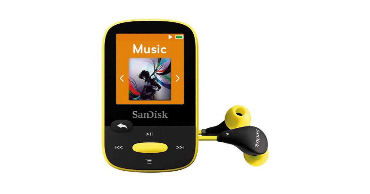 SanDisk MP3 Player 4GB Sansa Clip Sports Gelb