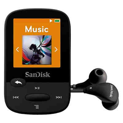 SanDisk MP3 Player 8GB Sansa Clip Sports schwarz