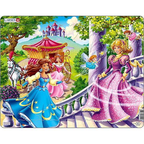 """Пазл """"Принцессы"""",  Larsen, 24 детали"""