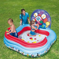 Детский игровой бассейн с кольцами и шариками для игры, Микки Маус