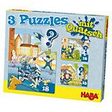 HABA 3 Puzzles mit Quatsch - Polizei, Feuerwehr & Co.