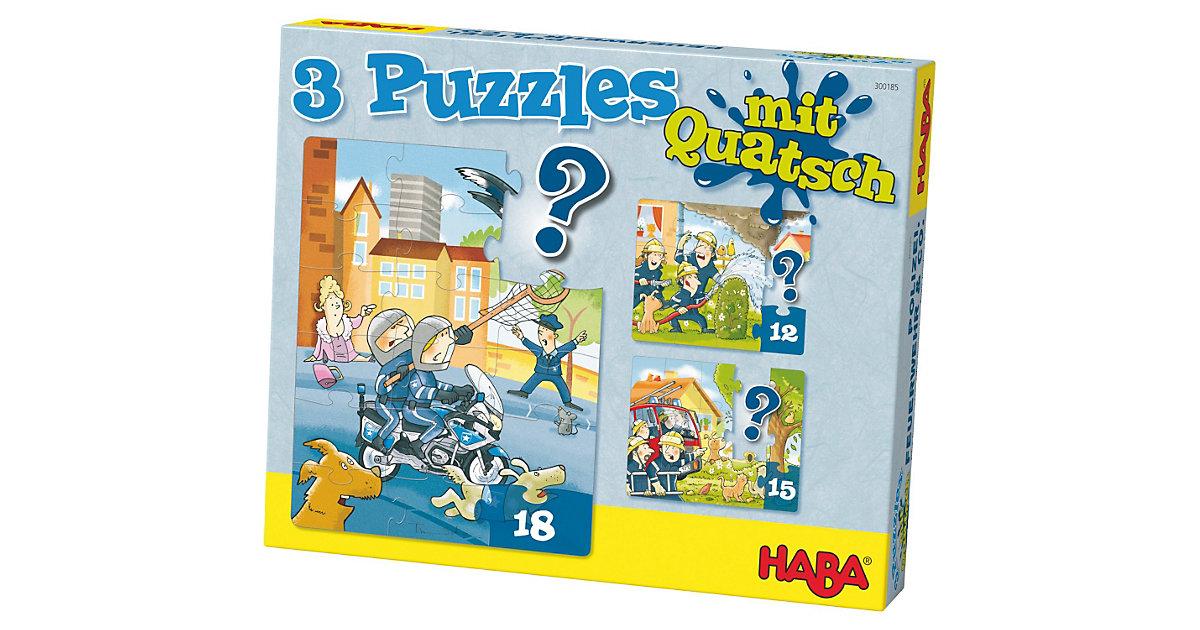 3 Puzzles mit Quatsch - Polizei, Feuerwehr & Co.