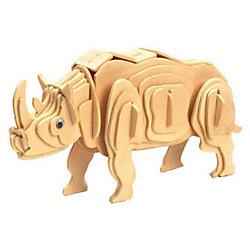 """Деревянный пазл 3D """"Носорог"""", Educational Line"""