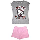 Комплект: футболка и шорты для девочки Hello Kitty