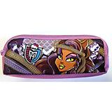 Пенал с 2 отделениями (цвет сиреневый), Monster High