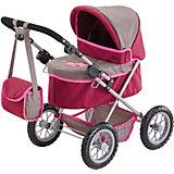 Puppenwagen TRENDY grau/ pink