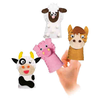 Filz-Set Fingerpuppe Farmtiere
