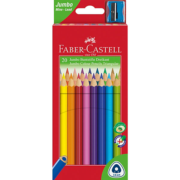 TRIANGULAR Jumbo Buntstifte, 20 Farben