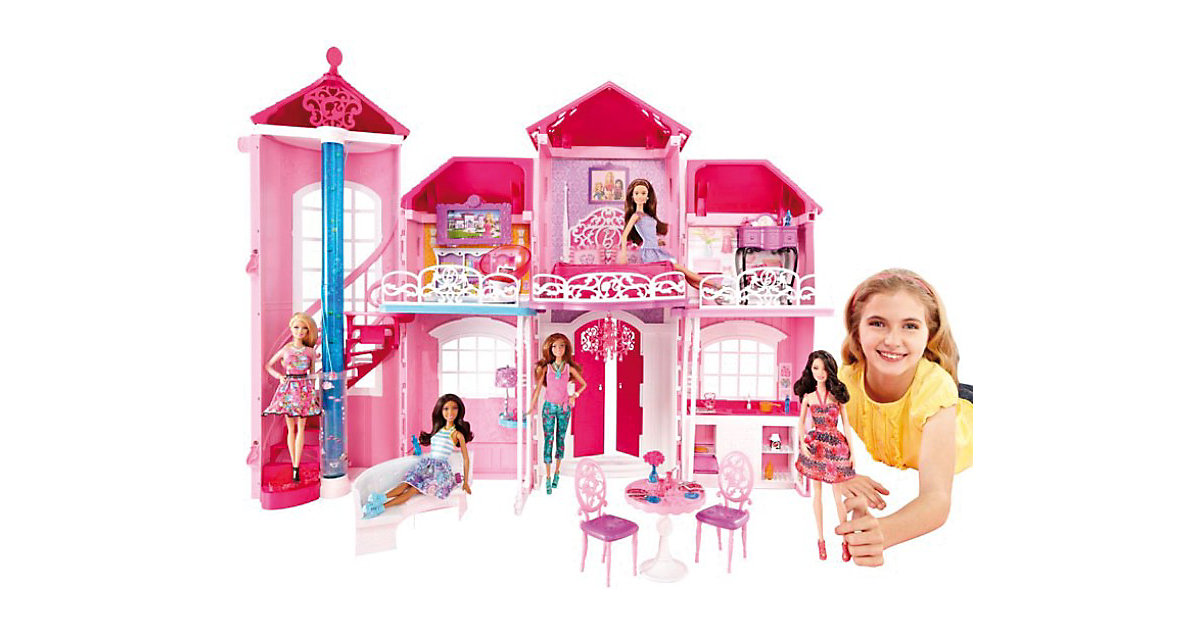 mattel barbie traumhaus bjp34 preisvergleich barbie zubeh r g nstig kaufen bei. Black Bedroom Furniture Sets. Home Design Ideas