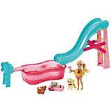 Кукла челси и бассейн с питомцами barbie