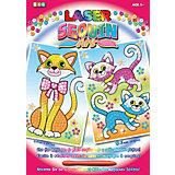 KSG Laser Sequin Art 2 Motive Katzen