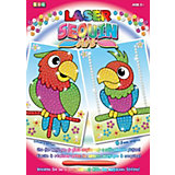 KSG Laser Sequin Art 2 Motive Papageien