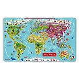 Magnet-Puzzle Weltkarte - 92 Teile