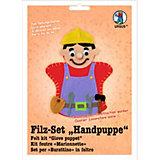 Filz-Set Handpuppe Bauarbeiter