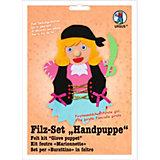 Filz-Set Handpuppe Piratenmädchen