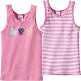 SANETTA Unterhemden Doppelpack Früchte für Mädchen