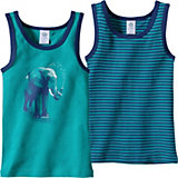 SANETTA Unterhemden Doppelpack Elefant für Jungen