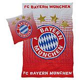 Bettwäsche FC Bayern München Logo, Linon, 135 x 200 cm