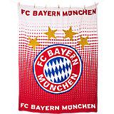 Fleecedecke FC Bayern München, Logo, 150 x 200 cm