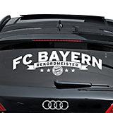 Autoaufkleber FC Bayern München, Rekordmeister, 1-tlg.