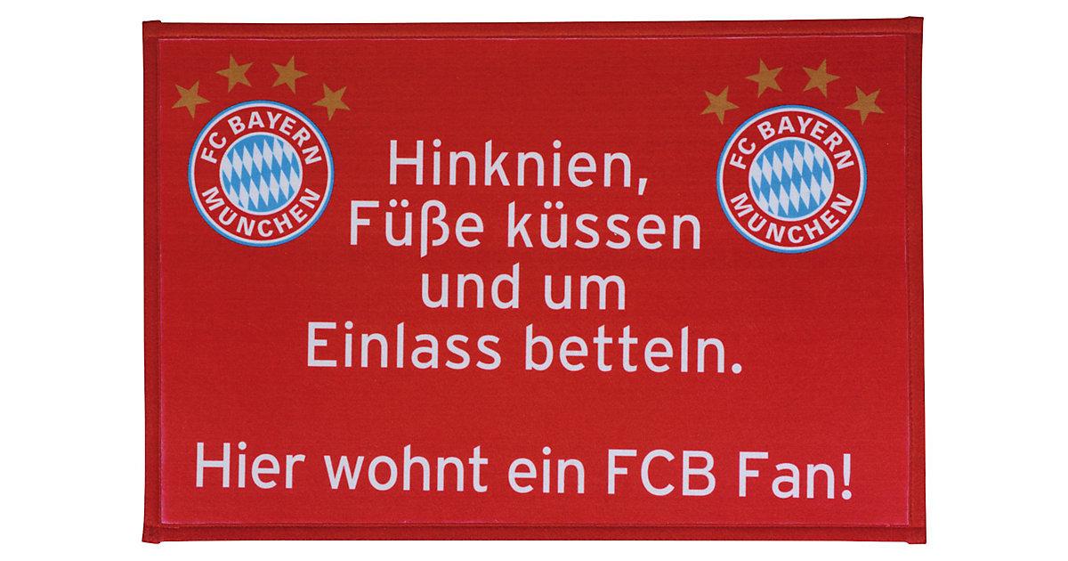 Fußmatte FC Bayern München, FCB Fan, 40 x 60 cm rot