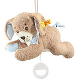 Gute Nacht Hund Spieluhr 22 cm, blau