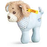 Gute Nacht Hund Rassel 12 cm,  blau