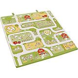 Spiel-, Krabbel-, Reisebettmatratze, klappbar, 120 x 120 cm und 60 x 120 cm, Bauernhof