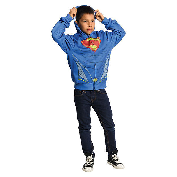 Kostüm Superman Man of Steel Kapuzenpullover