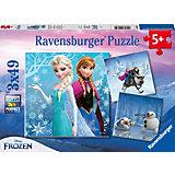 Disney Die Eiskönigin Abenteuer im Winterland 3 X 49 Teile