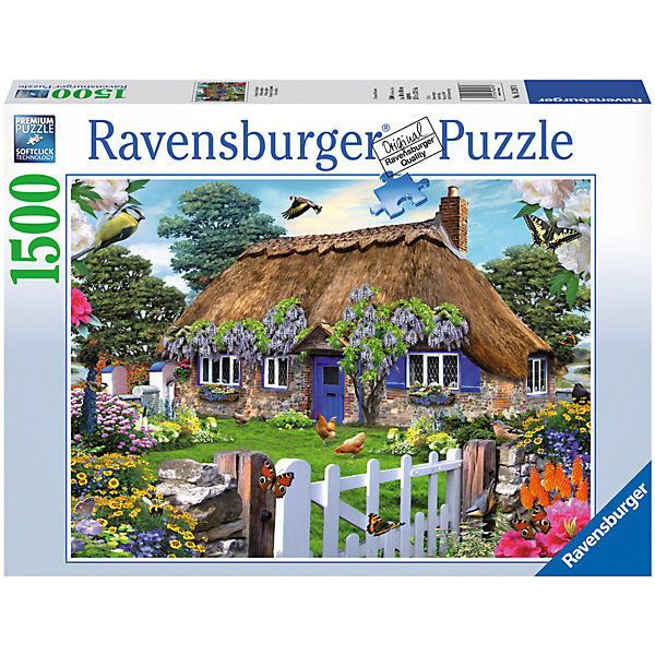 cottage in england 1500 teile ravensburger mytoys. Black Bedroom Furniture Sets. Home Design Ideas