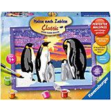 Malen nach Zahlen: Pinguinfamilie