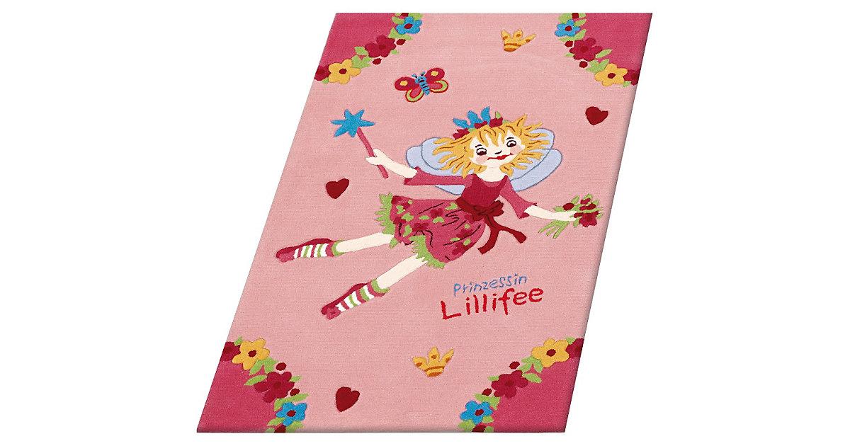Kinderteppich Prinzessin Lillifee fliegend rosa Gr. 130 x 190