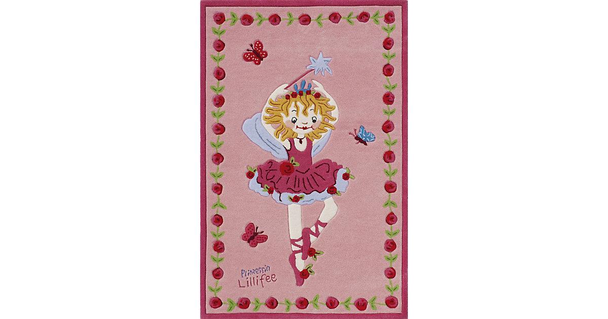 Kinderteppich Prinzessin Lillifee tanzend rosa Gr. 110 x 170