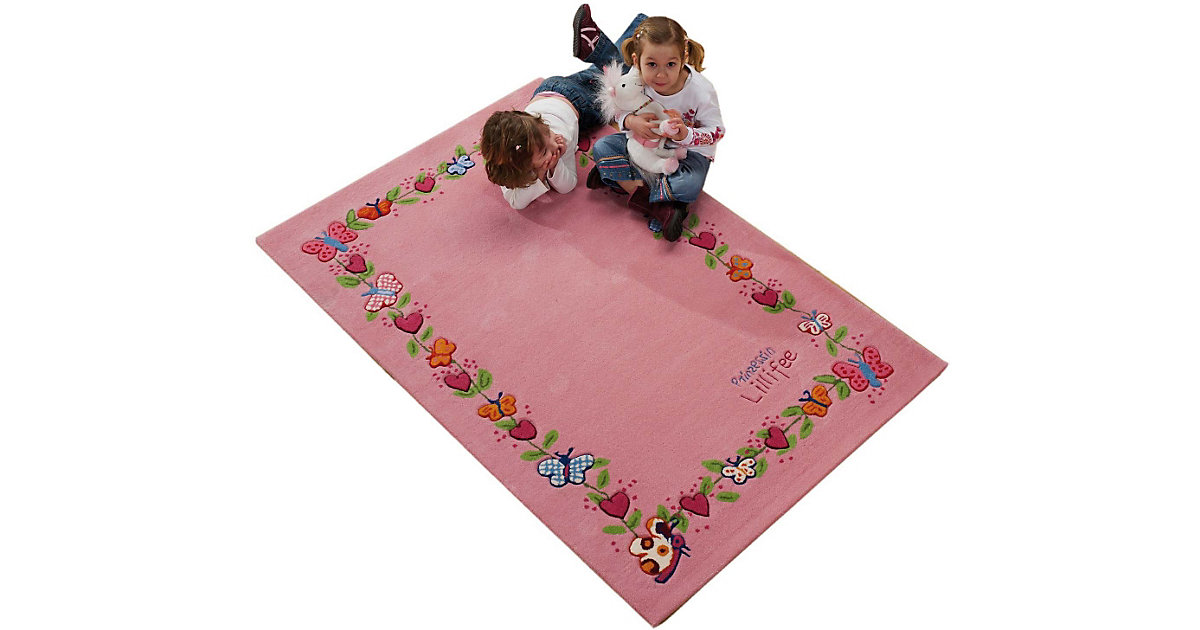 Kinderteppich Prinzessin Lillifee Schmetterlingsranke rosa Gr. 70 x 140